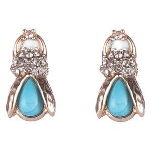 ALEXIS BITTAR • Crystal Encrusted Scarab Earrings